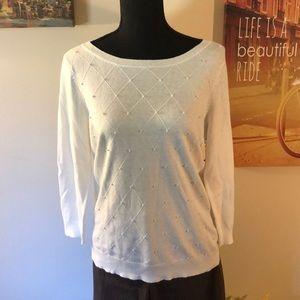 NWT Elle cream sweater